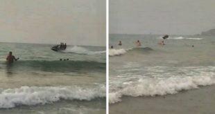 فيديو خطير/تهريب السوريين على متن جيتسكي من الجزائر بالسعيدية في غياب البحرية الملكية