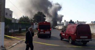 إنفجار معمل لغاز البوتان في مدينة القنيطرة.