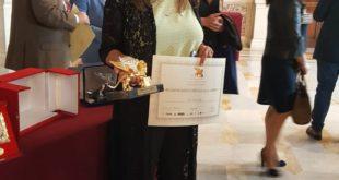 سعاد السباعي تتسلم جائزة الأسد الذهبي بالبرلمان الإيطالي