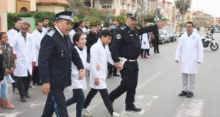 مؤسسة للا أسماء للصم والبكم بوجدة تنظم حملة تحسيسية حول السلامة الطرقية
