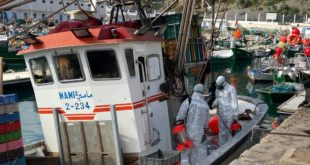 خلو أطقم  مراكب الصيد الساحلي التي حلت بميناء الحسيمـة من اعراض فيروس كورونا