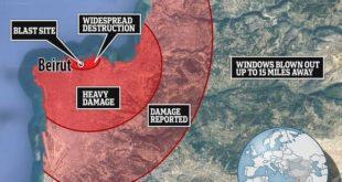 انفجار مروع بالعاصمة اللبنانية بيروت يخلف عشرات القتلى ومئات المصابين