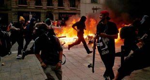 """استمرار الاحتجاجات الرافضة لاعتقال """"مغني الراب"""" من طرف السلطات الاسبانية"""