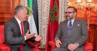 جلالة الملك محمد السادس يدعم قرارات ملك الأردن