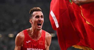 البطل المغربي سفيان البقالي ينسحب من سباق 1500 متر بسبب العياء الشديد
